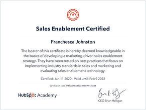 Sales Enablement Certified Bella Blake M