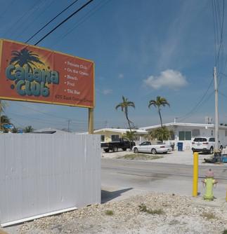 Blockout banner for Cabana Club in Marathon Florida