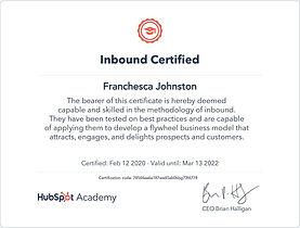 Inbound Certified Bella Blake Marketing.