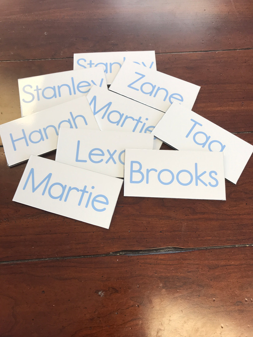 Name stickers in West Palm Beach Florida