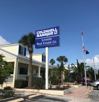 Coldwell Banker backlit banner in Key West Florida