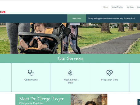 Eye Catching Chiropractic Website In West Palm Beach