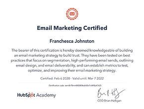 Email Marketing Certified Bella Blake Ma