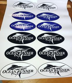 Sailfish stickers by Bella Blake Marketing in West Palm Beach Florida