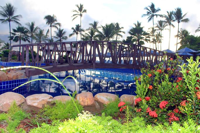 Vista ponte da piscina