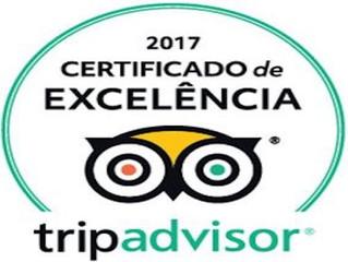 JA recebe Certificado de Excelência do TripAdvisor