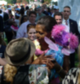 Michelle Obama hugs Abby.jpg