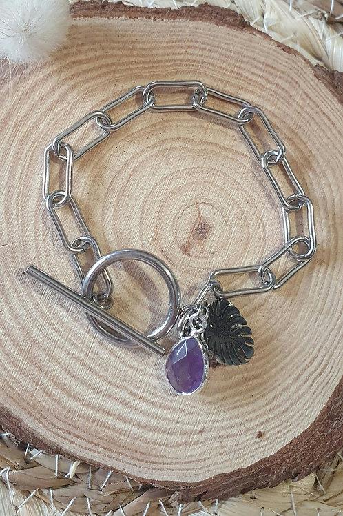 Bracelet  TROPICAL améthyste