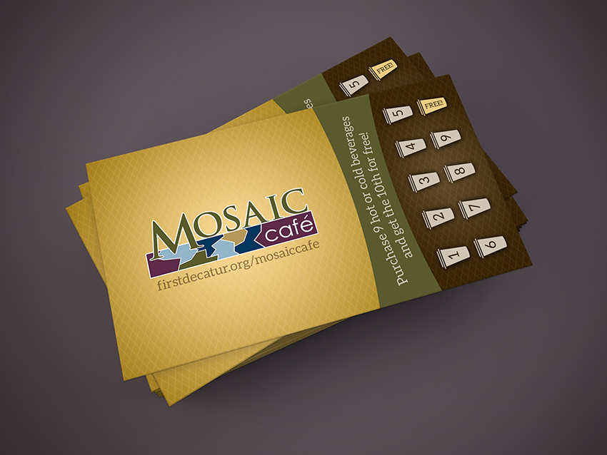 Mosaic Cafe Card