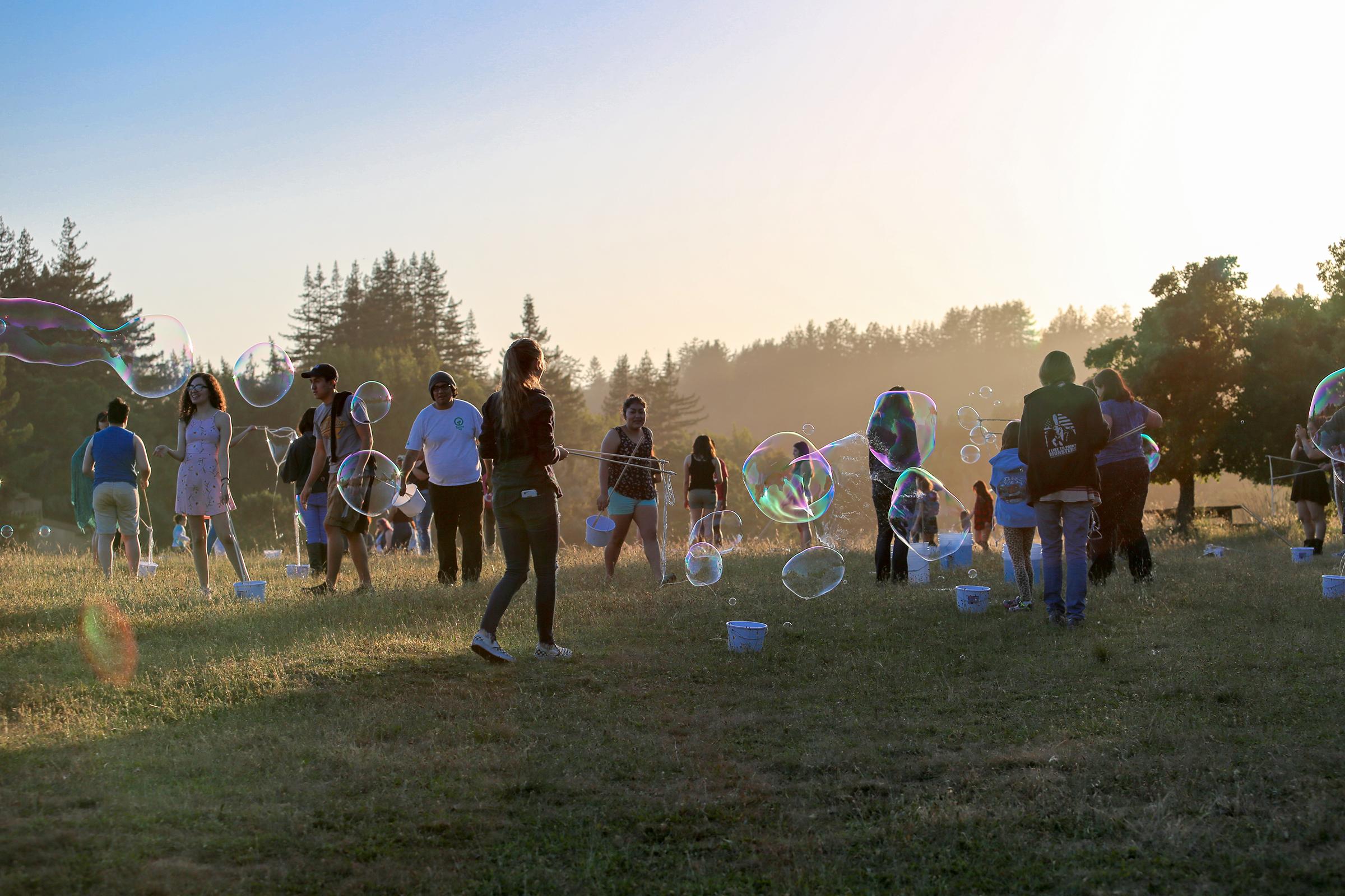 Sunset Bubbles #3