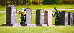 Examples of work at the cemetery