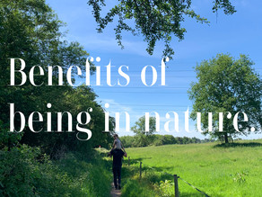 Benefits of being outdoors.