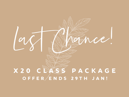 Last chance for x20 Class package offer!