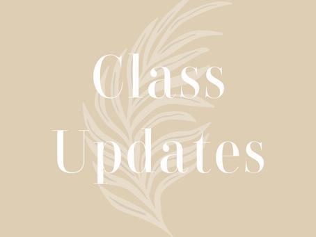 Class Updates