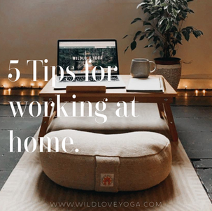 5 Tips for working at home.