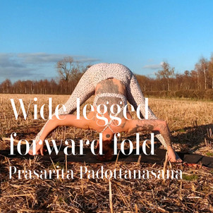 DAY 5 - Wide leg forward fold #wildlove30days