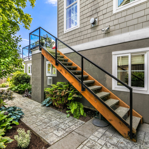 Stairs from Main Deck to garden patio