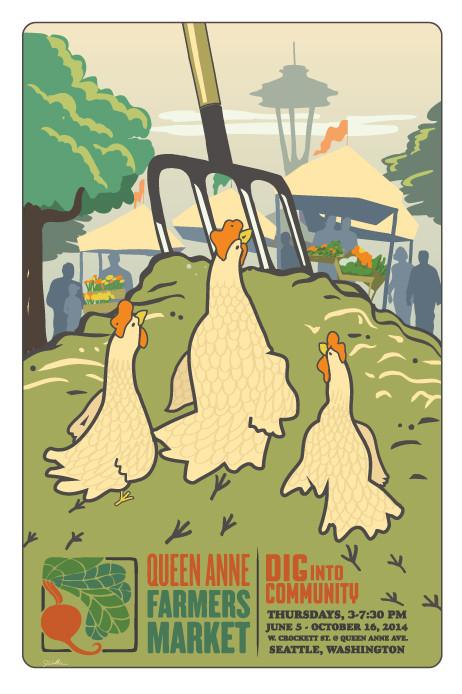 Mark Your Calendars!  Queen Anne Farmers Market. Thursday, August 14th
