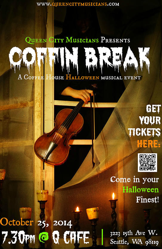 Mark Your Calendar: October 25th - Queen City Musicians launches with 'Coffin Break' at Q Cafe
