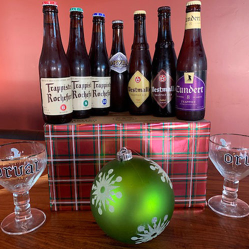 The Thirsty Monk + 2 Trappist Glasses