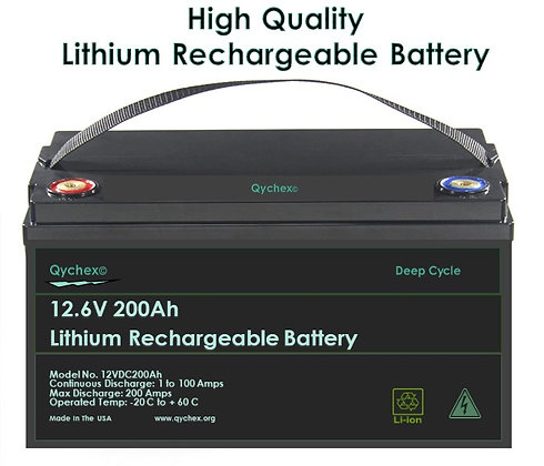 12.6 Volt 200AH High Drain Lithium Ion Battery - Free Battery Charger