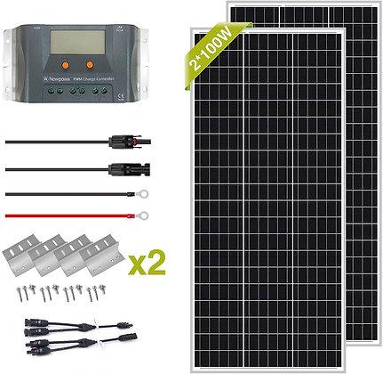Newpowa 400 Watt 12V Solar Panel Kit
