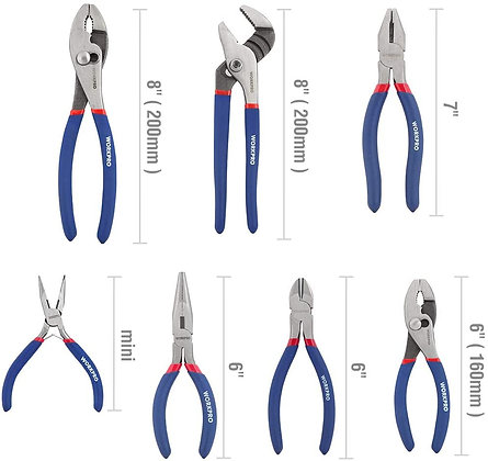 WORKPRO 7-piece Pliers Set for DIY & Shop Use