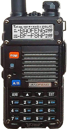BAOFENG BF-F8HP 8-Watt Dual Band Two-Way Radio Full Kit with Large Battery