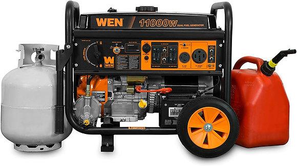 WEN 11,000-Watt 120V/240V Dual Fuel Portable Generator with Wheel Kit and Elect