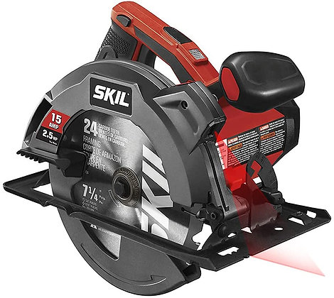 SKIL 5280-01 Circular Saw with Single Beam Laser Guide, 15 Amp 7-1/4 Inch