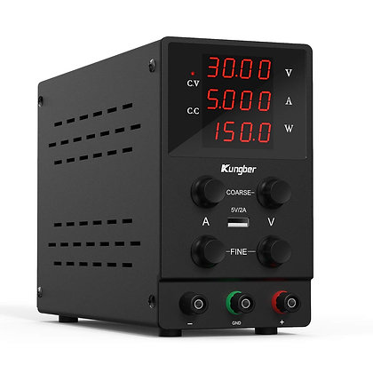 Variable DC Power Supplies 30V 5A & Up with 4-Digits LED Display