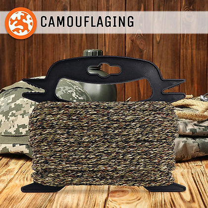 """65 ft. Camouflage Braided Rope with Winder Organizer Spool 3/8"""" All-Purpose"""