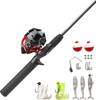 Spincast Reel and Fishing Rod Combo Fishing Kit