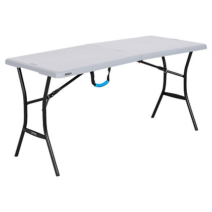 Lifetime 5ft Folding Tailgating Camping and Outdoor Table, Gray