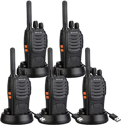 Retevis Walkie Talkie Two Way Radios (5 Pack)