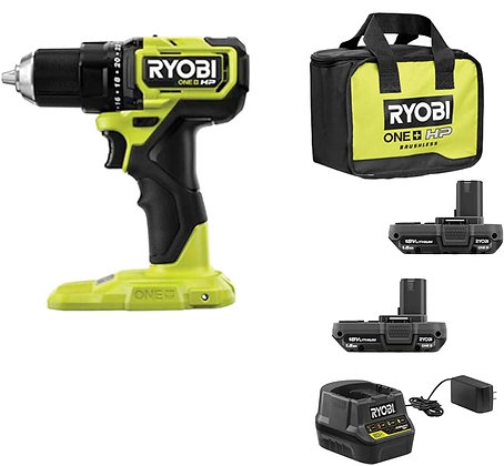 RYOBI ONE+ HP 18V Brushless Cordless Compact 1/2 in. Drill/Driver Kit