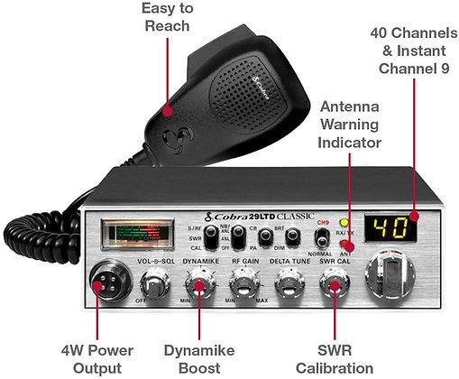 Cobra 29LTD Professional CB Radio & Emergency Radio