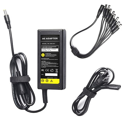 Power Adapter 12V 5A 100V-240V AC to DC 8-Way Power Splitter Cable
