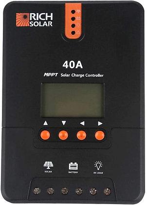 RICH SOLAR 40 Amp 12V/24V DC Input MPPT Solar Charge Controller
