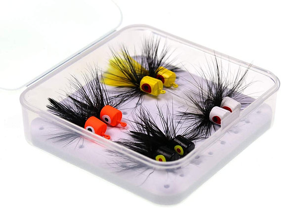8pcs Popper Flies Fishing Dry Assortment Flies