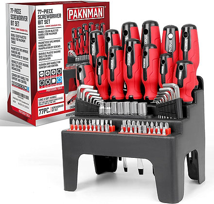 77PC Screwdriver Set With Magnetic Tips