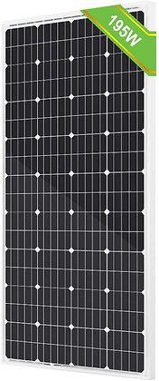 ECO-Worthy 195W 12V Solar Panel Monocrystalline
