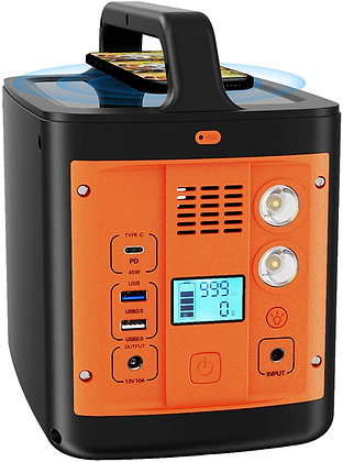 Portable Power Station 298Wh/92800mAh, with 110VAC 200W