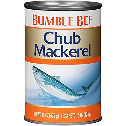 BUMBLE BEE Chub Mackerel, 15 Ounce Can (Pack of 12)