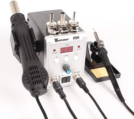 700W 2 in 1 SMD Rework Soldering Station with Hot Air & Soldering Gun