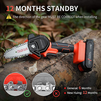 Mini Cordless Chainsaw Kit - Portable Battery Operated Chainsaw