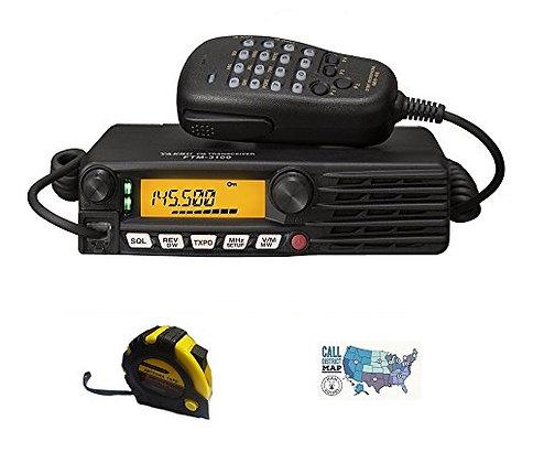 3 Item Bundle - Yaesu FTM-3100R 144Mhz 65W FM Transceiver - Antenna and HAM Gui