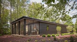 Modern Chard Wood Exterior Home 13