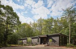 Modern Chard Wood Exterior Home