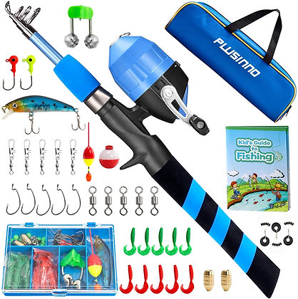 Kids or Beginners Telescopic Fishing Rod and Reel Combo Kit